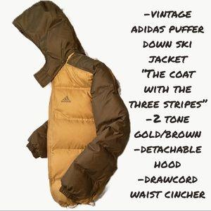 Adidas 2-toned down polymer puffy ski jacket